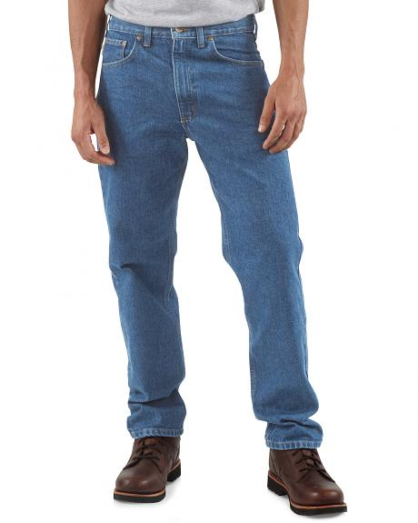 Carhartt Traditional Fit Five Pocket Tapered Leg Work Jeans