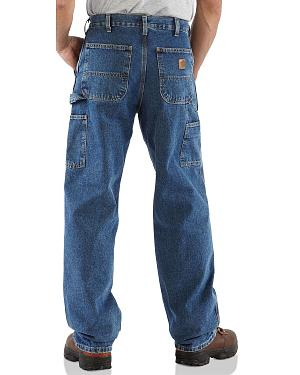 Carhartt Washed Denim Original Fit Work Dungaree Jeans