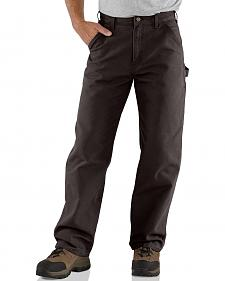 Carhartt Dark Brown Washed Duck Dungaree Work Pants