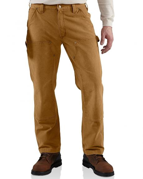 Carhartt Weathered Duck Double Front Dungaree Work Pants
