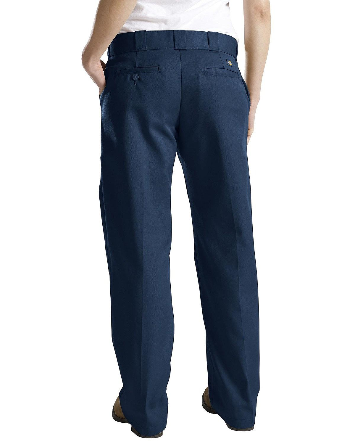 New Dickies Pants Women Pleated Front Work Pant Straight Leg FP220 Black
