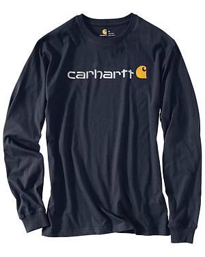 Carhartt Signature Logo Sleeve Knit T-Shirt - Big & Tall