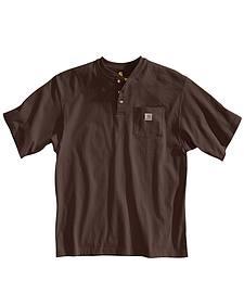 Carhartt Short Sleeve Henley Work Shirt - Big & Tall