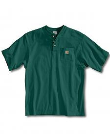 Carhartt Short Sleeve Henley Work Shirt - Big & Tall