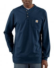 Carhartt Long Sleeve Work Henley Shirt - Big & Tall