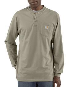 Carhartt Long Sleeve Work Henley Shirt - Big & Tall