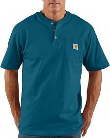 Carhartt Short Sleeve Green Henley Work Shirt
