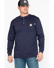 Carhartt Flame Resistant Henley Long Sleeve Work Shirt