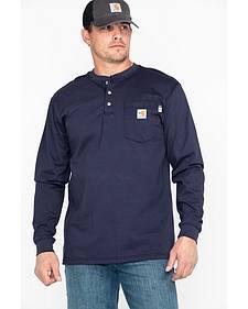 Carhartt Flame Resistant Henley Long Sleeve Work Shirt