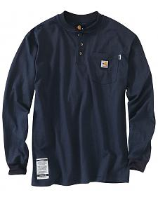 Carhartt Flame Resistant Long Sleeve Work Henley Shirt - Big & Tall