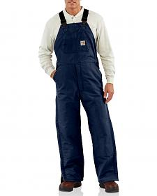Carhartt Flame Resistant Quilt-Lined Duck Bib Work Overalls - Big & Tall