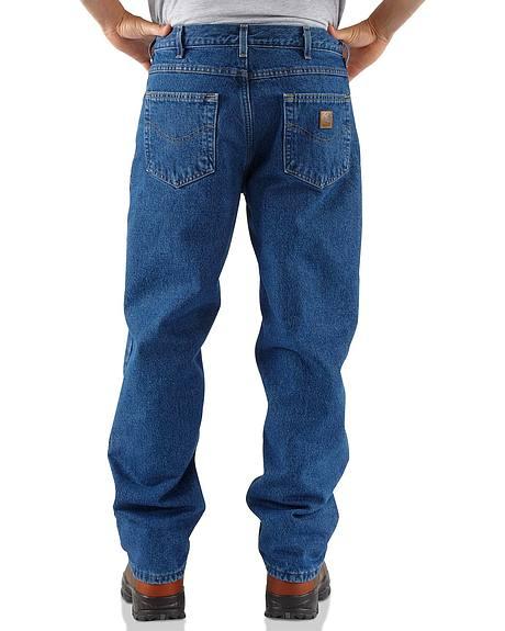 Carhartt Fleece-Lined Relaxed Fit Straight Leg Work Jeans