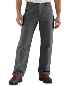 Carhartt Flannel-Lined Washed Duck Dungaree Work Pants
