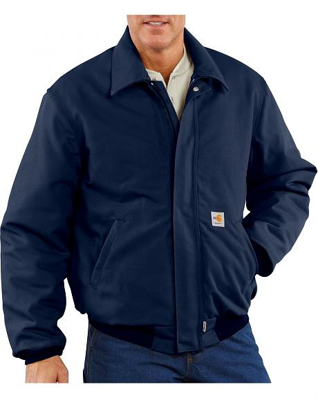 Carhartt Flame Resistant Quilt-Lined Duck Bomber Jacket - Big & Tall