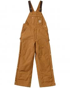 Carhartt Quilt Lined Zip To Thigh Bib Overalls - Big & Tall