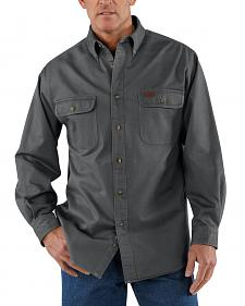 Carhartt Sandstone Twill Work Shirt - Big & Tall