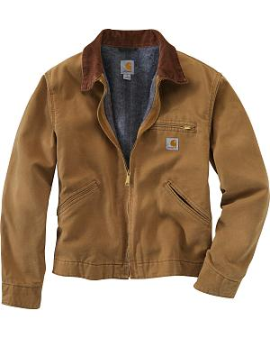 Carhartt Duck Detroit Blanket Lined Canvas Jacket