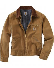 Carhartt Duck Detroit Blanket Lined Canvas Jacket - Big & Tall