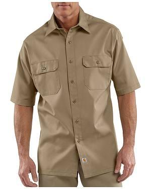 Carhartt Twill Work Short Sleeve Work Shirt