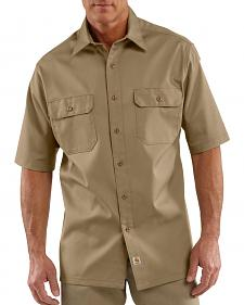 Carhartt Twill Work Short Sleeve Work Shirt - Big & Tall