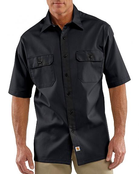 Carhartt Twill Work Short Sleeve Work Shirt - Big & Tall