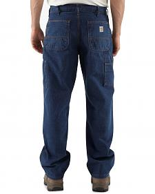Carhartt Flame Resistant Signature Denim Dungaree Work Jeans - Big & Tall
