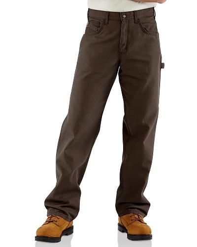 Carhartt Flame Resistant  Canvas Work Pants Western & Country FRB159 GKH