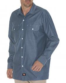 Dickies Relaxed Fit Chambray Long Sleeve Shirt
