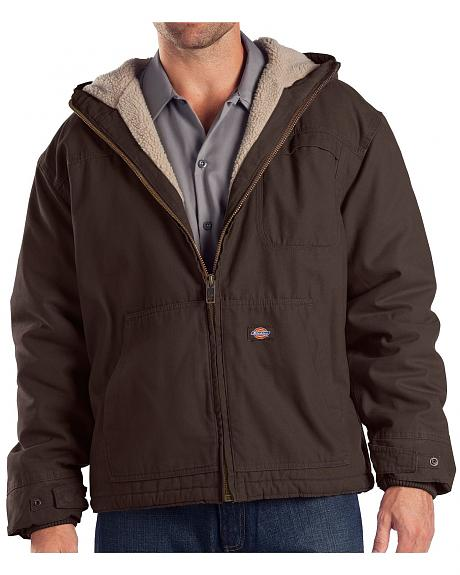 Dickies Sanded Duck Sherpa Lined Jacket - Big & Tall