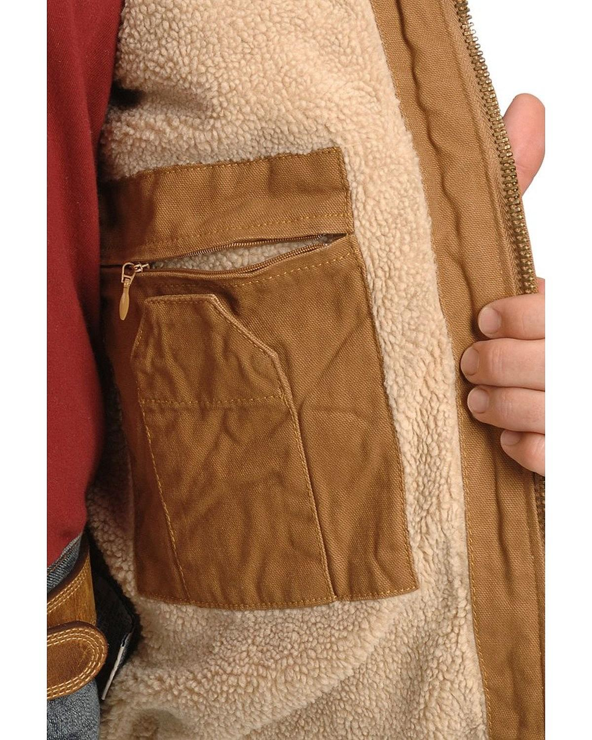 Dickies Men's Sanded Duck Sherpa Lined Jacket Big And Tall ...