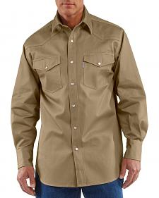 Carhartt Solid Cotton Twill Long Sleeve Work Shirt - Big & Tall