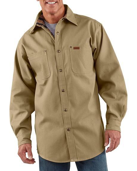 Carhartt Canvas Work Shirt Jacket - Big & Tall