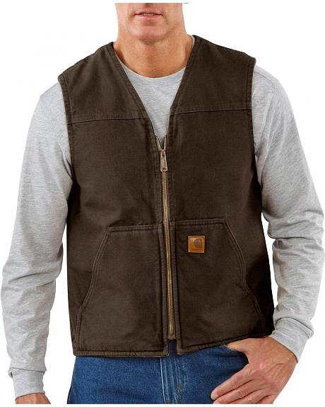 Carhartt Sandstone Duck Work Vest - Big & Tall