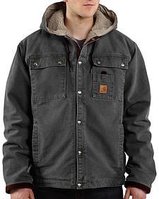 Carhartt Sandstone Hooded Sherpa-Lined Multi Pocket Jacket