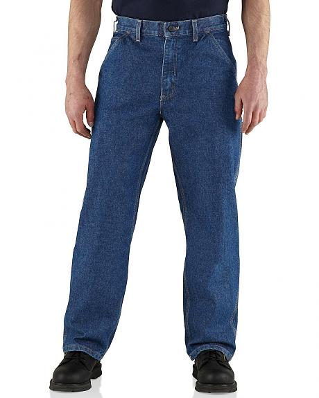 Carhartt Flame Resistant Utility Denim Dungaree Jeans