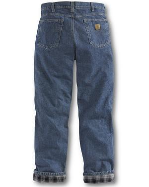 Carhartt Relaxed Fit Flannel Lined Straight Leg Jeans