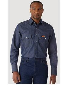 Wrangler Flame Resistant Work Western Shirt