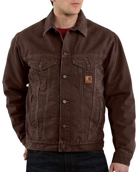 Carhartt Sandstone Sherpa-Lined Jean Jacket - Big & Tall