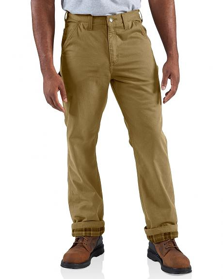 Carhartt Washed Twill Dungaree Flannel-Lined Pants