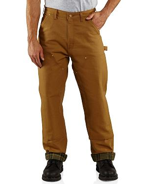 Carhartt Firm Duck Double Front Dungaree Flannel Lined Pants