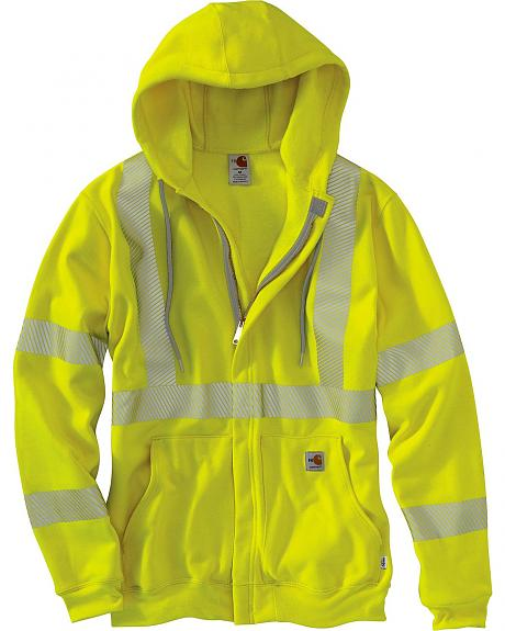 Carhartt Flame Resistant High-Visibility Zip-Front Sweatshirt - Big & Tall