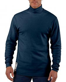 Carhartt Flame Resistant Force Navy Mock Turtleneck - Big & Tall