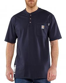Carhartt Flame Resistant Henley Short Sleeve Work Shirt