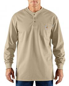 Carhartt Flame Resistant Henley Long Sleeve Work Shirt - Big & Tall