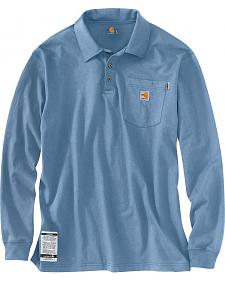 Carhartt Flame Resistant Force Long Sleeve Polo Shirt - Big & Tall