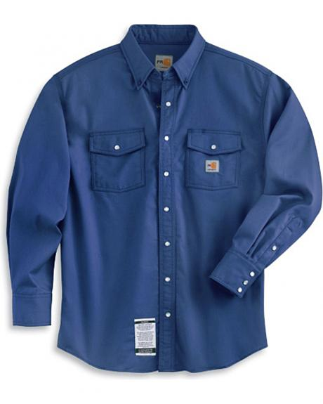 Carhartt flame resistant snap front work shirt sheplers for Flame resistant work shirts