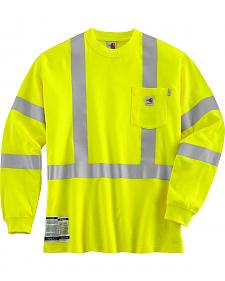 Carhartt Flame Resistant High Visibility Class 3 Long Sleeve Shirt - Big & Tall