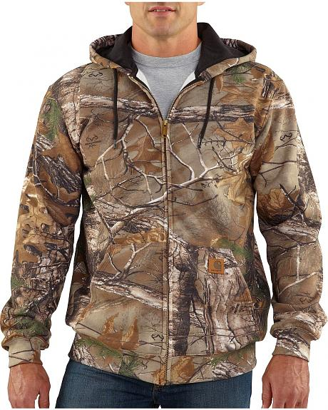 Carhartt Realtree Xtra® Camo Midweight Hooded Zip-Front Sweatshirt - Big & Tall