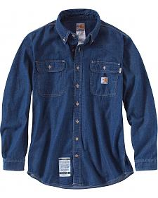 Carhartt Flame Resistant Washed Denim Shirt - Big & Tall