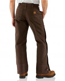 Carhartt Sandstone Quilt Lined Work Pants